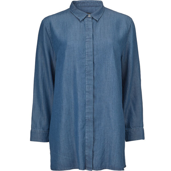 INDISSA BLUSE, BLUE DENIM, hi-res
